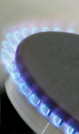 Plumber in Peterborough, Cambridgeshire. Photo of gas appliance.